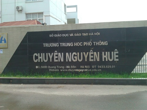Trường chuyên Nguyễn Huệ Hà Đông